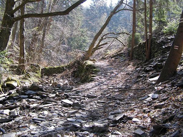Těžký sjezd do Bělkovického údolí