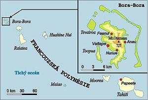bora bora mapa sveta Bora Bora, Polynésie a cestování bora bora mapa sveta