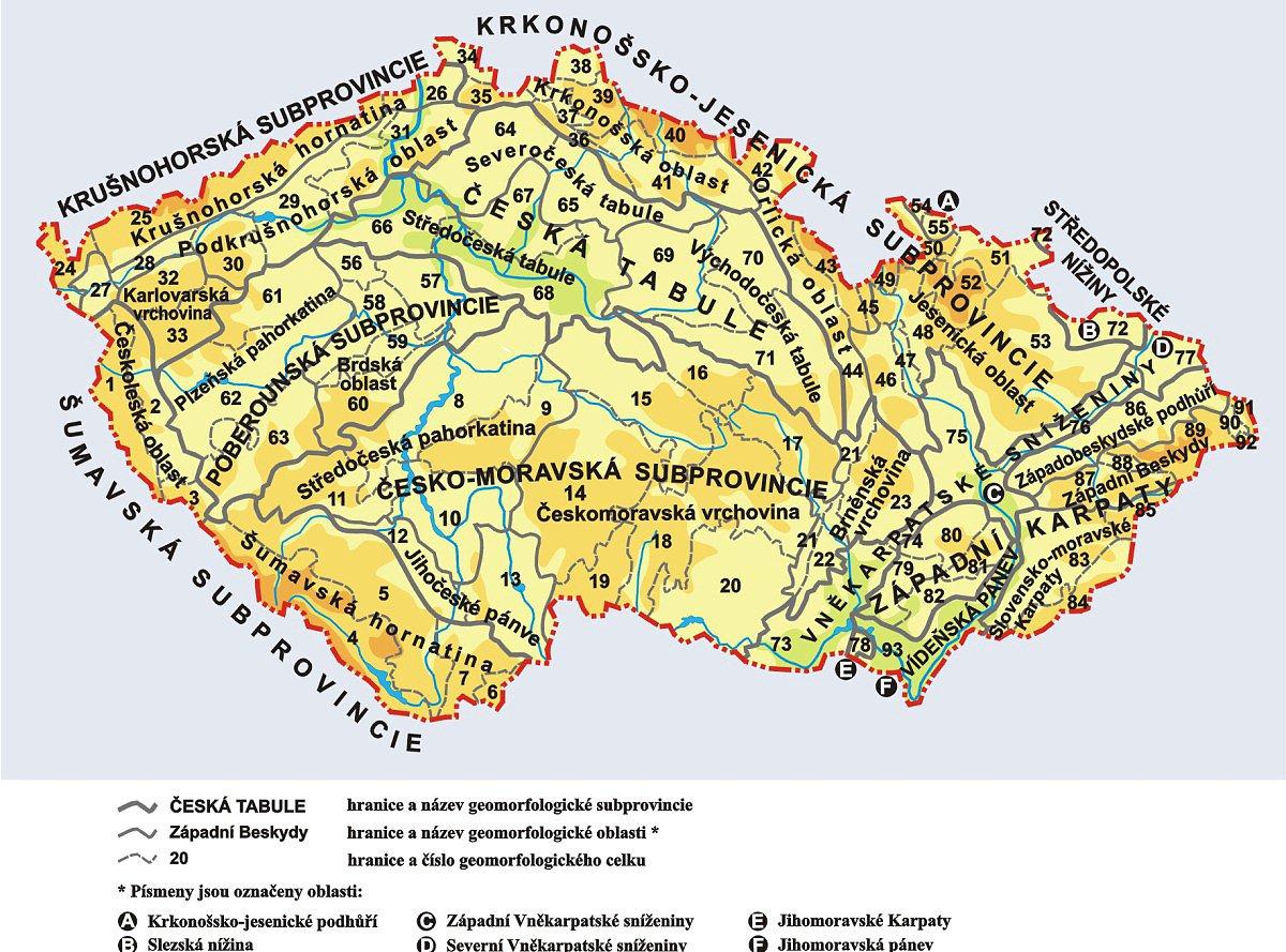 Ceske Hory Mapa Pohori