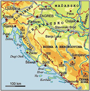 Mapa Turisticka Mapa Chorvatska Online