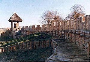Staré hradiště, palisádová hradba