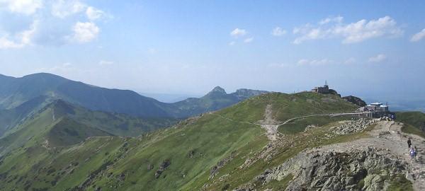Kasprov vrch s konečnou stanicí lanovky